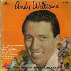 Discos de vinilo: ANDY WILLIANS EP SELLO HISPAVOX AÑO 1960. Lote 43300677