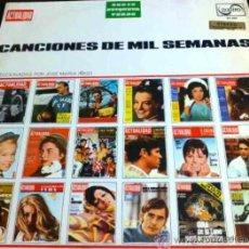 Discos de vinilo: CANCIONES DE MIL SEMANAS: MARISOL, JUAN Y JUNIOR, LOS BRINCOS... SELECCIÓN DE JOSÉ MARIÁ ÍÑIGO - LP. Lote 33794779