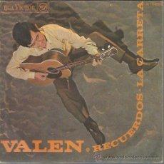 Discos de vinilo: VALEN - RECUERDOS / LA CARRETA - SINGLE RCA 1968. Lote 43307827