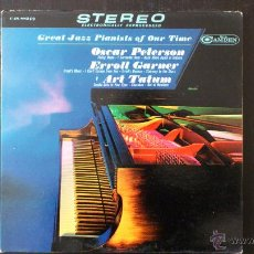 Discos de vinilo: GREAT JAZZ PIANIST OF OUR TIME - PETERSON - GARNER - TATUM - LP - VINILO - 1965. Lote 43311647