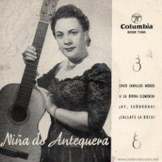 Discos de vinilo: NIÑA DE ANTEQUERA, EP, CINCO CABALLOS MOROS + 3, AÑO 1960. Lote 43318423