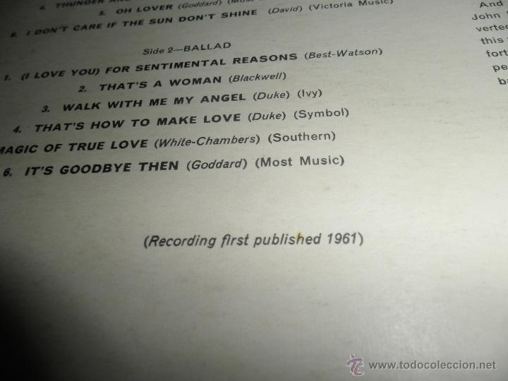 Discos de vinilo: JOHN LEYTON - THE TWO SIDES OF LP - ORIGINAL INGLES - HIS MASTER VOICE RECORDS 1961 MONO - AUTENTICO - Foto 8 - 43319982