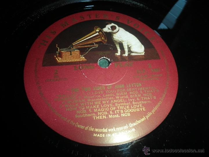 Discos de vinilo: JOHN LEYTON - THE TWO SIDES OF LP - ORIGINAL INGLES - HIS MASTER VOICE RECORDS 1961 MONO - AUTENTICO - Foto 25 - 43319982