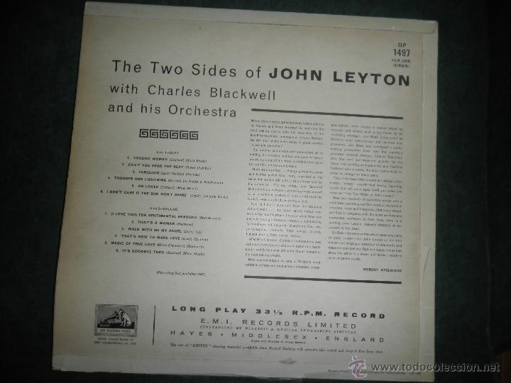 Discos de vinilo: JOHN LEYTON - THE TWO SIDES OF LP - ORIGINAL INGLES - HIS MASTER VOICE RECORDS 1961 MONO - AUTENTICO - Foto 28 - 43319982