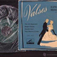 Discos de vinilo: RAPHA BROGIOTTI , VALSES LA VOZ DE SU AMO. Lote 43326888