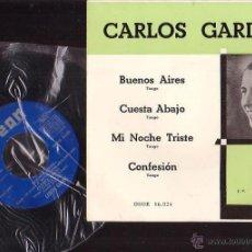 Discos de vinilo: CARLOS GARDEL - BUENOS AIRES , CUESTA ABAJO ......... Lote 43331577