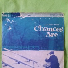Discos de vinilo: BARRY FRANK - CHANCES ARE / ALL THE WAY IMPORTACIÓN 1957. Lote 43334310