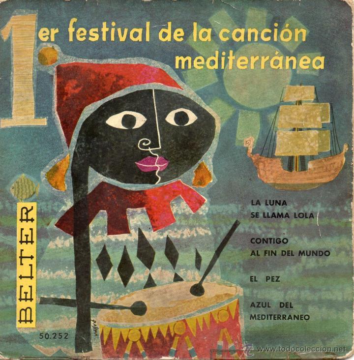 I FESTIVAL DE LA CANCION MEDITERRANEA, EP, DODO ESCOLA -- EL PEZ + 3, AÑO 1959 (Música - Discos de Vinilo - EPs - Otros Festivales de la Canción)