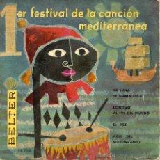 Discos de vinilo: I FESTIVAL DE LA CANCION MEDITERRANEA, EP, DODO ESCOLA -- EL PEZ + 3, AÑO 1959. Lote 43335708