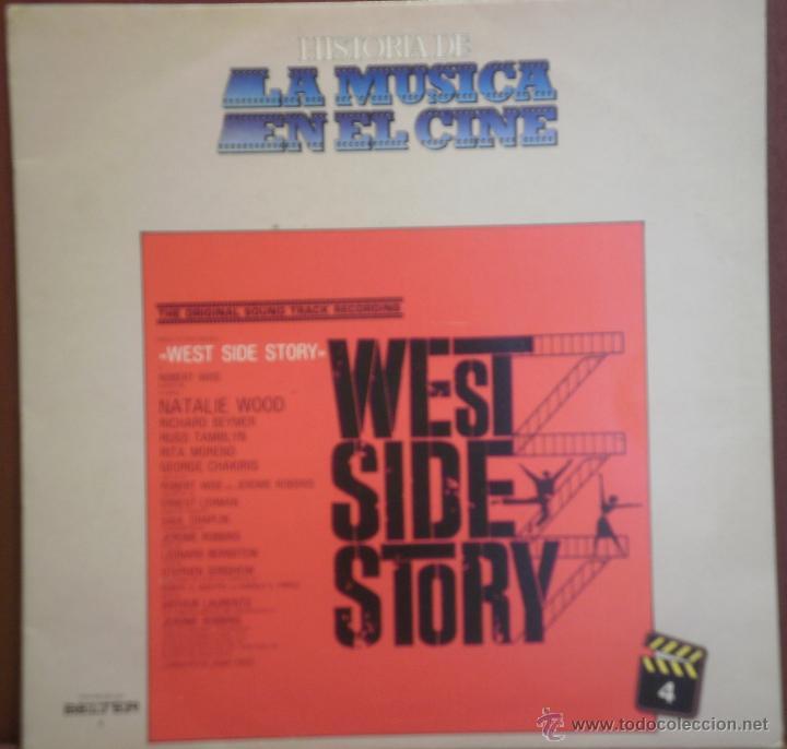 LP WEST SIDE STORY - HISTORIA DE LA MUSICA EN EL CINE - COMO NUEVO (Música - Discos de Vinilo - EPs - Bandas Sonoras y Actores)