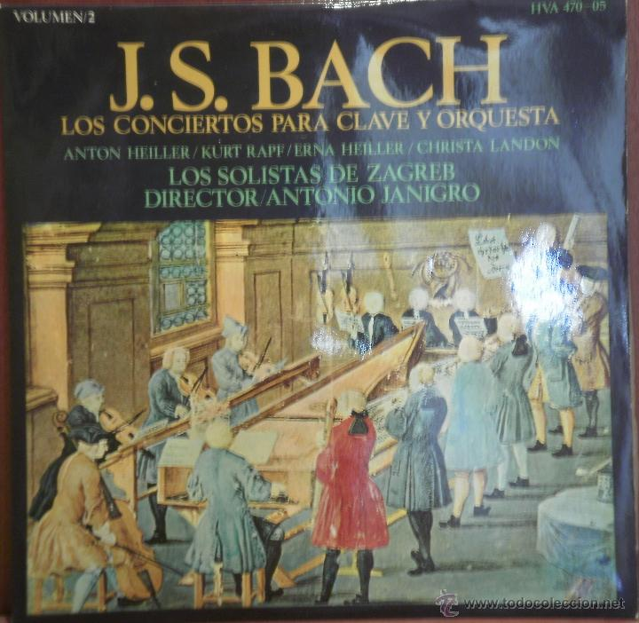 LP BACH LOS CONCIERTOS PARA CLAVE Y ORQUESTA- LOS SOLISTAS DE ZAGREB VOL 2. 1969 (Música - Discos - LP Vinilo - Clásica, Ópera, Zarzuela y Marchas)