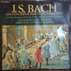 Discos de vinilo: LP BACH LOS CONCIERTOS PARA CLAVE Y ORQUESTA- LOS SOLISTAS DE ZAGREB VOL 2. 1969. Lote 43367408