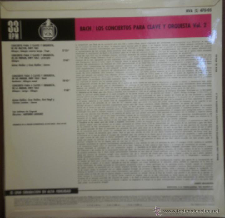 Discos de vinilo: LP BACH LOS CONCIERTOS PARA CLAVE Y ORQUESTA- LOS SOLISTAS DE ZAGREB VOL 2. 1969 - Foto 2 - 43367408