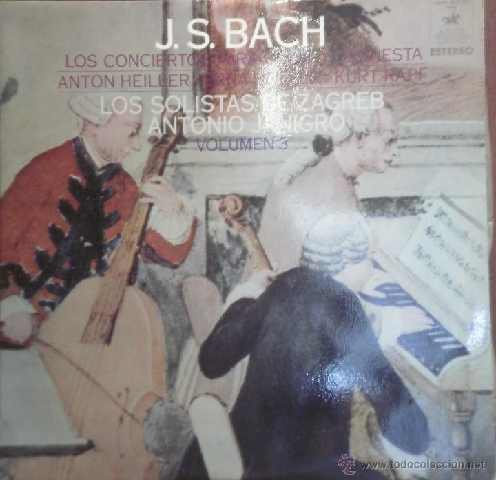 LP BACH LOS CONCIERTOS PARA CLAVE Y ORQUESTA- LOS SOLISTAS DE ZAGREB VOL 3. 1969 (Música - Discos - LP Vinilo - Clásica, Ópera, Zarzuela y Marchas)