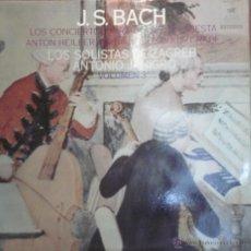 Discos de vinilo: LP BACH LOS CONCIERTOS PARA CLAVE Y ORQUESTA- LOS SOLISTAS DE ZAGREB VOL 3. 1969. Lote 43367434