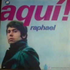 Discos de vinilo: LP DE RAPHAEL AÑO 1969 EDICIÓN ARGENTINA. Lote 26851695