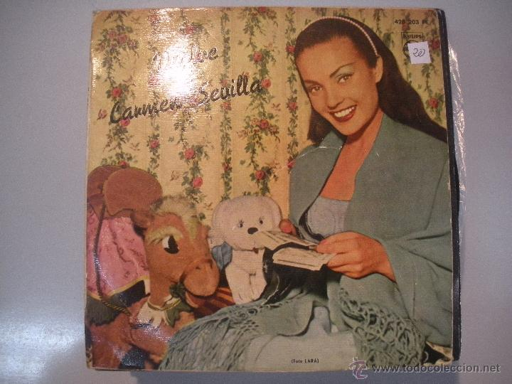 MAGNIFICO SINGLE DE - CARMEN - SEVILLA - (Música - Discos - Singles Vinilo - Solistas Españoles de los 50 y 60)