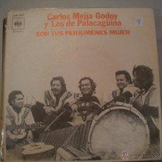 Discos de vinilo: MAGNIFICO SINGLE DE - CARLOS - MEJIAS _ GODOY - Y LOS - DE - PARAGUINA -. Lote 43368879