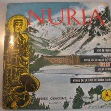 Discos de vinilo: MAGNIFICO SINGLE DE- LA - VALL - DE NURIA - CATALUÑA -. Lote 43374323