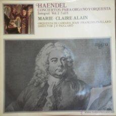 Discos de vinilo: LP HAENDEL - MARIE CLAIRE ALAIN VOL2- 5 AL 8 . 1968. Lote 43378316