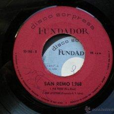 Dischi in vinile: EP FUNDADOR / SAN REMO 1968 /VER FOTO ADICIONAL. Lote 43382239