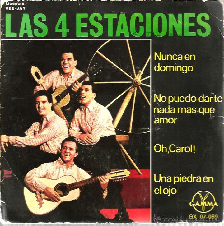 EP LAS 4 ESTACIONES : NUNCA EN DOMINGO + 3 (Música - Discos de Vinilo - EPs - Grupos Españoles 50 y 60)