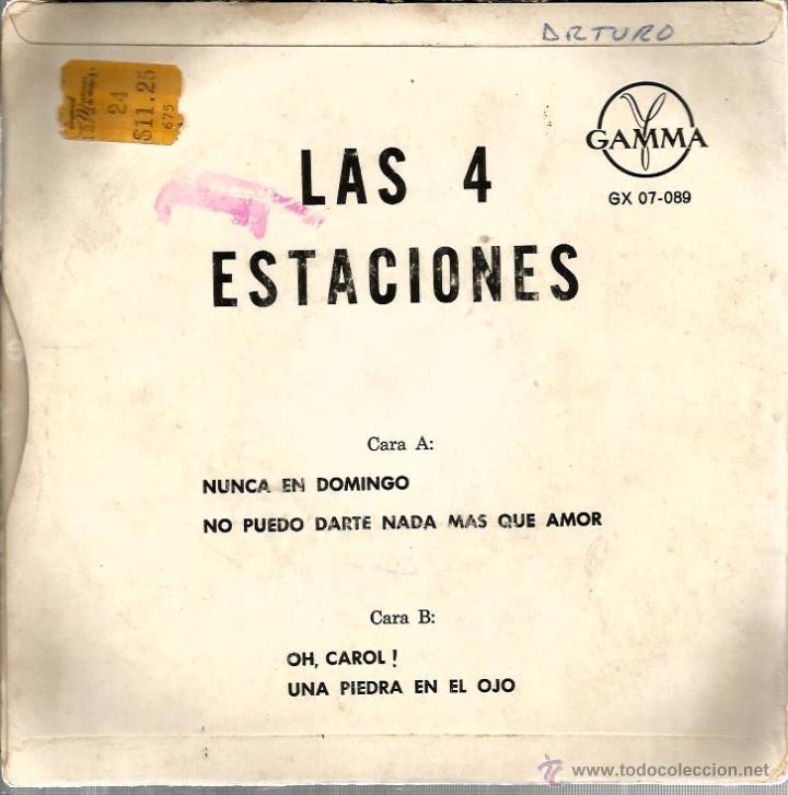 Discos de vinilo: EP LAS 4 ESTACIONES : NUNCA EN DOMINGO + 3 - Foto 2 - 43385286