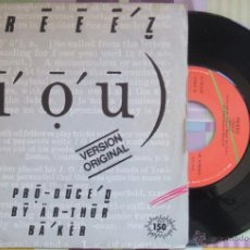 Discos de vinilo: FREEZ - I O U (VERSIÓN ORIGINAL) // SINGLE VG+ / SPAIN / 1983. Lote 43394136
