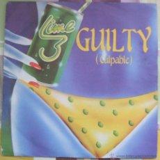 Discos de vinilo: LIME 3 : GUILTY ( CULPABLE ) // SINGLE / SPAIN / 1983 / POLYDOR. Lote 43394281