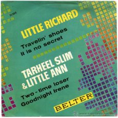 Discos de vinilo: LITTLE RICHARD + TARHEEL SLIM & LITTLE ANN - EP SPAIN 1963 - BELTER 51.303. Lote 43404470