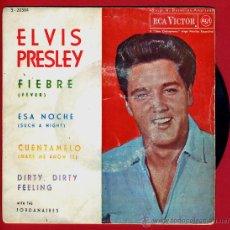 Discos de vinil: DISCO ELVIS PRESLEY , FIEBRE , ESA NOCHE , CUENTAMELO , DIRTY , ORIGINAL. Lote 43404656