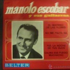 Discos de vinilo: MANOLO ESCOBAR Y SUS GUITARRAS, EL MISTERIO DE LAS FLORES.. Lote 43405161