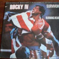 Dischi in vinile: SURVIVOR - BURNING HEART - ROCKY IV AÑO 1985. Lote 43414915