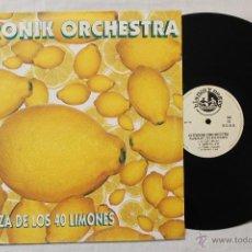 Discos de vinilo: CITRONIK ORCHESTRA LA DANZA DE LOS 40 LIMONES MAXI BLANCO Y NEGRO SPAIN. Lote 43428472
