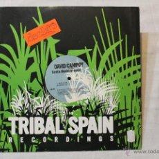 Discos de vinilo: DAVID CAMPOY COSTA MEDITERRANEA MAXI TRIBAL SPAIN. Lote 43428510