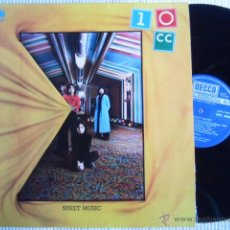 Discos de vinilo: 10 CC - '' SHEET MUSIC '' LP + INNER ORIGINAL SPAIN. Lote 43436278