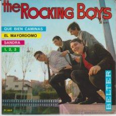 Discos de vinilo: THE ROCKING BOYS - QUE BIEN CAMINAS - UNO, DOS, TRES + 2 EP SPAIN 1966 EX / EX. Lote 43438964