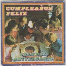 Discos de vinilo: CUMPLEAÑOS FELIZ Y VALS DEL ANIVERSARIO, MOVIEPLAY 1970. Lote 43440098