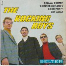 Discos de vinilo: THE ROCKING BOYS - DEJALA DORMIR - GET AWAY - LOCO POR TI - EP SPAIN 1967 VG++ / VG++. Lote 43440309