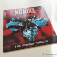 Discos de vinilo: METALLICA - THE MEMORY REMAINS - UK ENGLAND SINGLE - VERTIGO RECORDS - VINILOVINTAGE. Lote 43441408