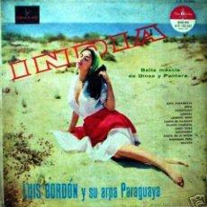 Discos de vinilo: LP ARGENTINO DE LUIS BORDÓN Y SU ARPA PARAGUAYA AÑO 1959. Lote 27635559