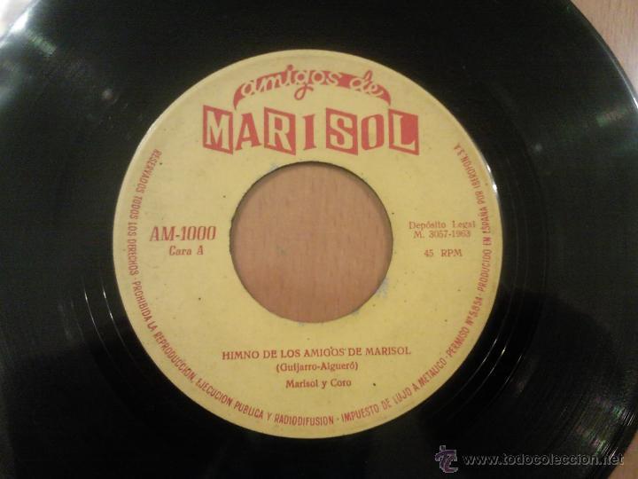 MARISOL / HIMNO DE LOS AMIGOS DE MARISOL // EDITADO 1963 (Música - Discos - Singles Vinilo - Solistas Españoles de los 50 y 60)