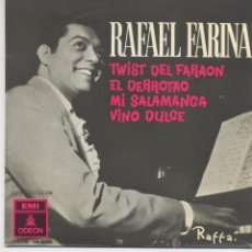 Discos de vinilo: RAFAEL FARINA,TWIST DEL FARAON DEL 62. Lote 43447951