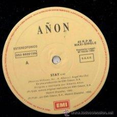 Discos de vinilo: ALBERTO AÑON-STAY + DANCING IN THE SEA MAXI 1992 SPAIN . Lote 43458056