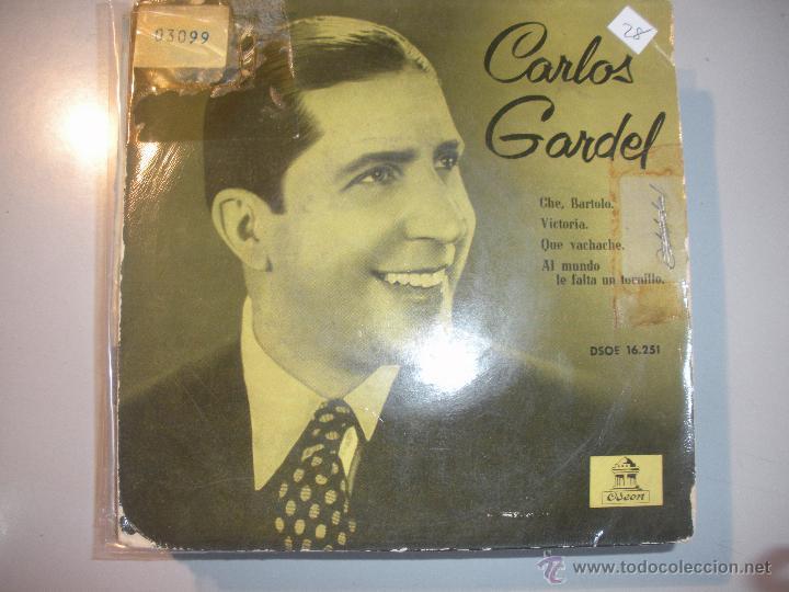 MAGNIFICO SINGLE DE - CARLOS - GARDEL - CHE - BARTOLO - (Música - Discos - Singles Vinilo - Grupos y Solistas de latinoamérica)
