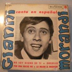 Discos de vinilo: MAGNIFICO SINGLE DE - GIANNI - MORANDI -. Lote 43463802