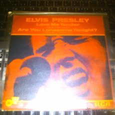 Discos de vinilo: ELVIS PRESLEY - LOVE ME TENDER + ARE YOU LONESOME TONIGHT?. Lote 43466400