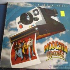 Discos de vinilo: MODESTIA APARTE HISTORIAS SIN IMPORTANCIA. Lote 43471612