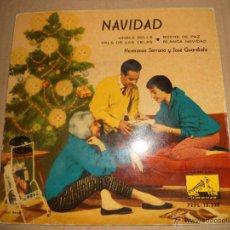 Discos de vinilo: HERMANAS SERRANO Y JOSE GUARDIOLA (EP) JINGLE BELLS AÑO 1959. Lote 43483050