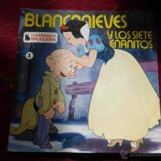Discos de vinilo: BLANCANIEVES Y LOS SIETE ENANITOS - CUENTODISCO BRUGUERA - WALT DISNEY - 1967 - BUEN ESTADO. Lote 43491372